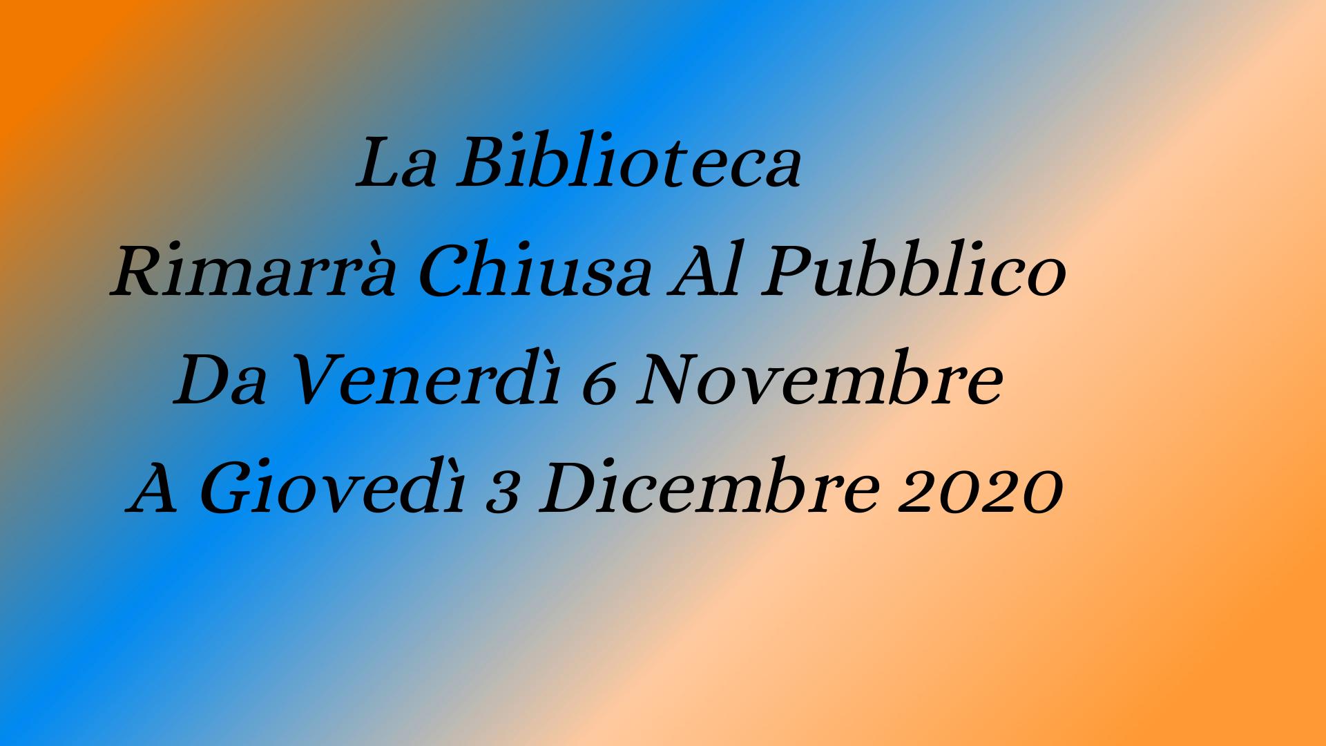 """Chiusura Biblioteca Comunale """"La Pigna"""" di Vobarno"""
