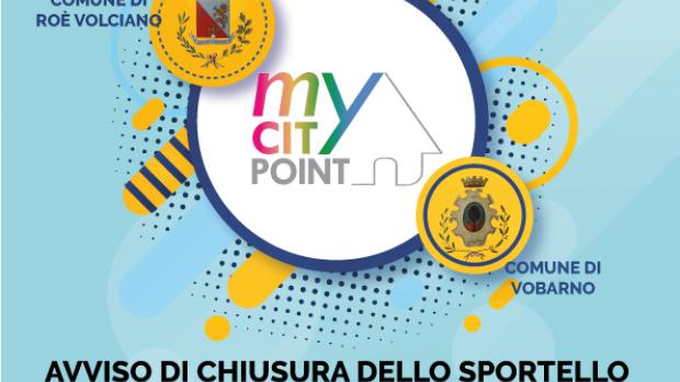Comunicazione Chiusura Sportello My City Point Di giovedì GIOVEDI' 19 AGOSTO 2021