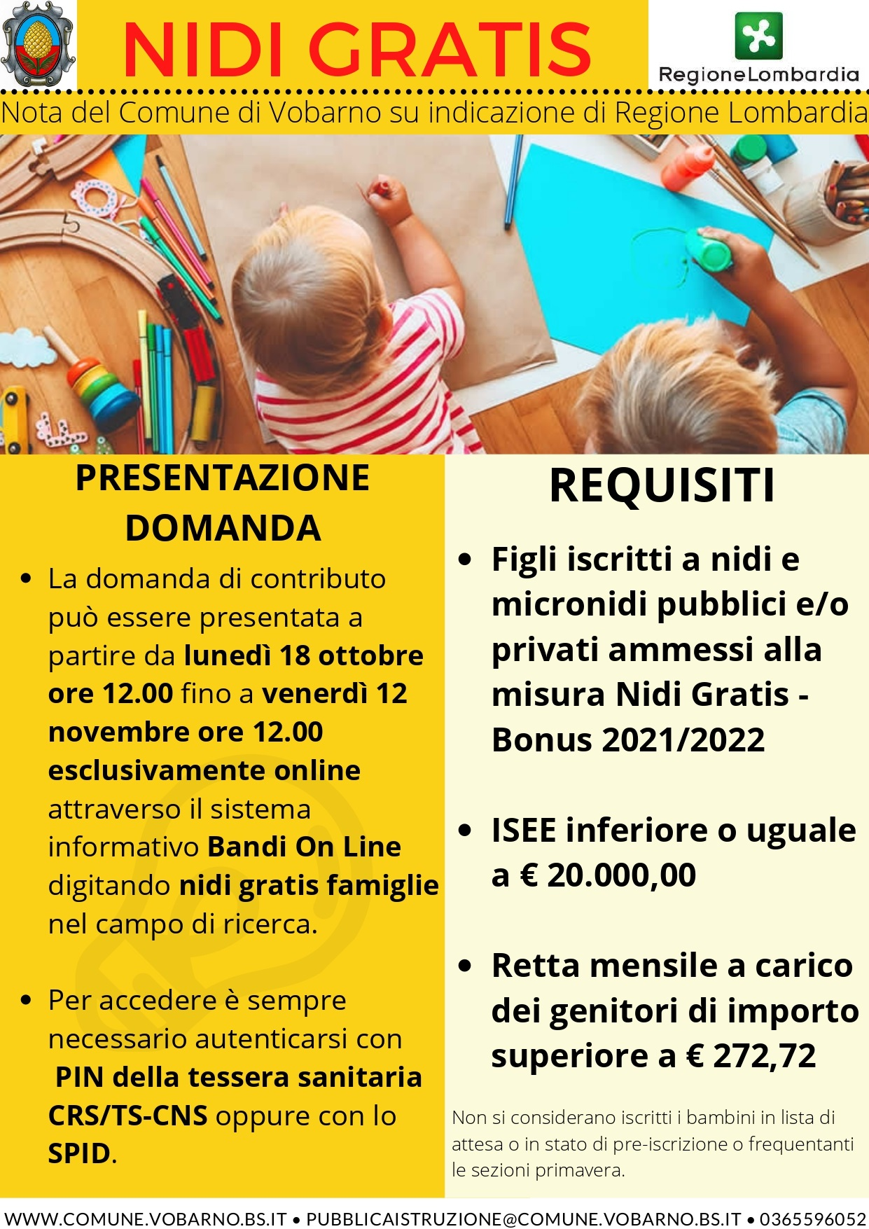 NIDI GRATIS bonus 2021 - 2022